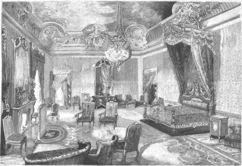 Calle, Palacio y Aposentos, preparados para la boda real