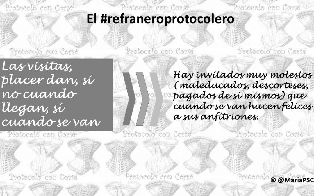 La visita inesperada en el #Refraneroprotocolero
