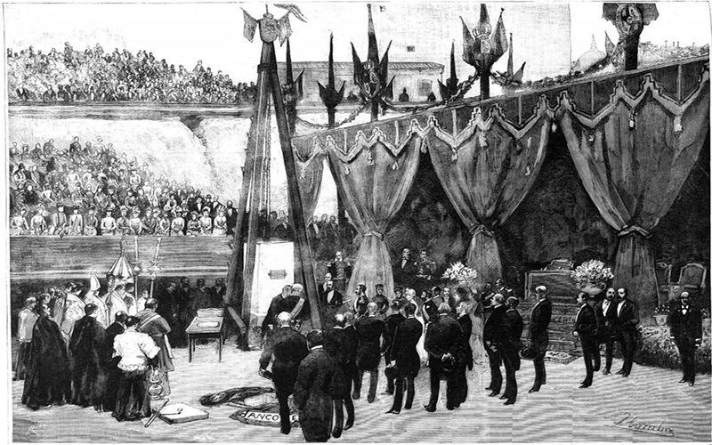 1884: Ceremonial y protocolo en la primera piedra del Banco de España