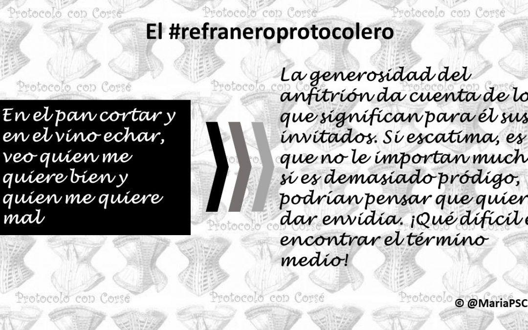 Los detalles del anfitrión en el #Refraneroprotocolero