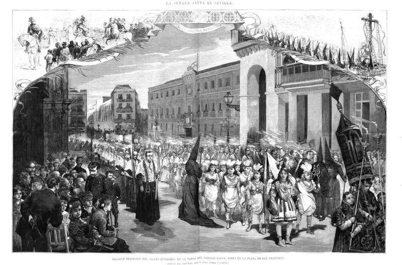 Protocolo en el Santo Entierro: de procesión en 1878