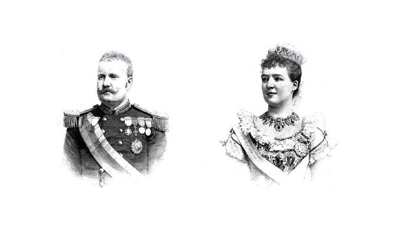 Los reyes de Portugal visitan Madrid en 1892