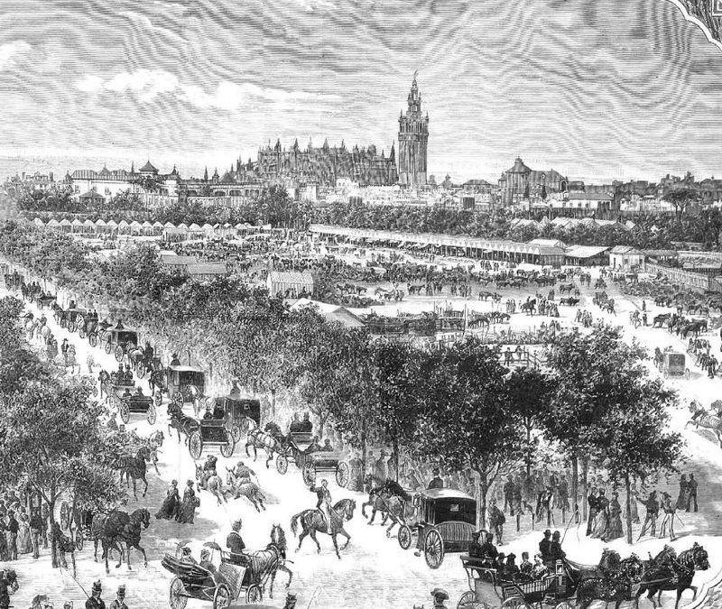 Sevilla de feria en 1881