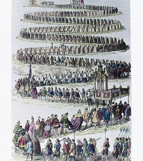 Protocolo en la procesión del Corpus de 1623 en Madrid