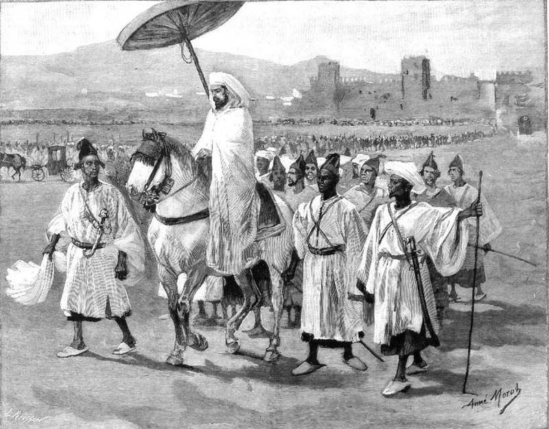 1889: Recepción de Embajadores en la Corte de Marruecos
