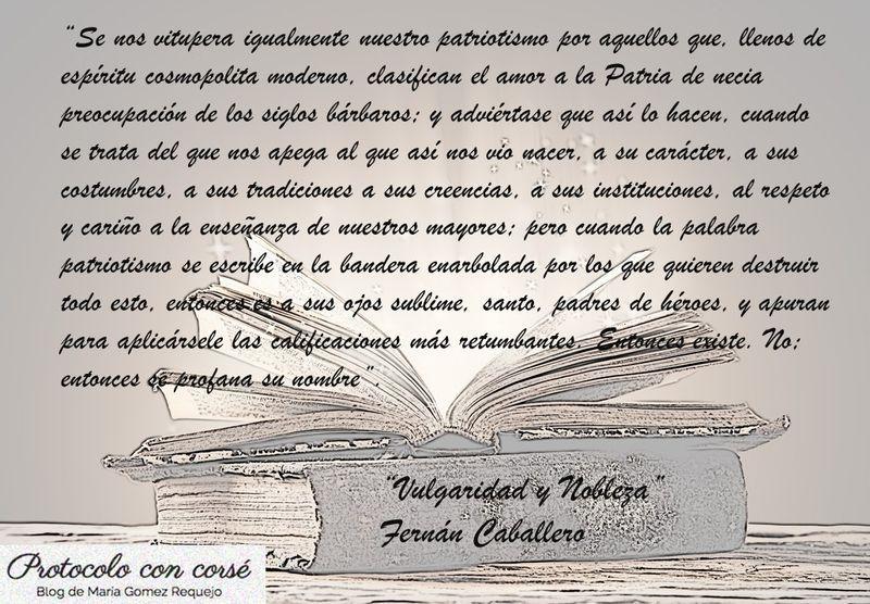 Sobre patriotismo escribió Fernán Caballero, #todoestáenloslibros