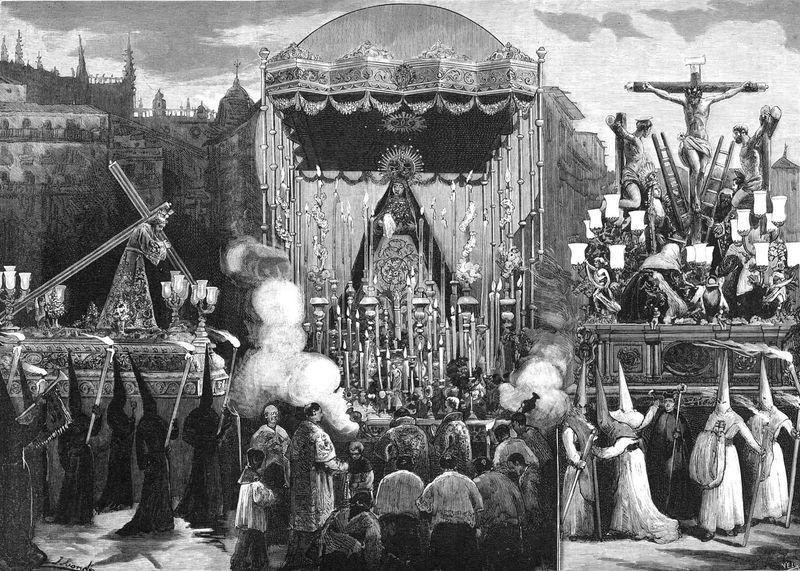 Una madrugá sevillana de 1882