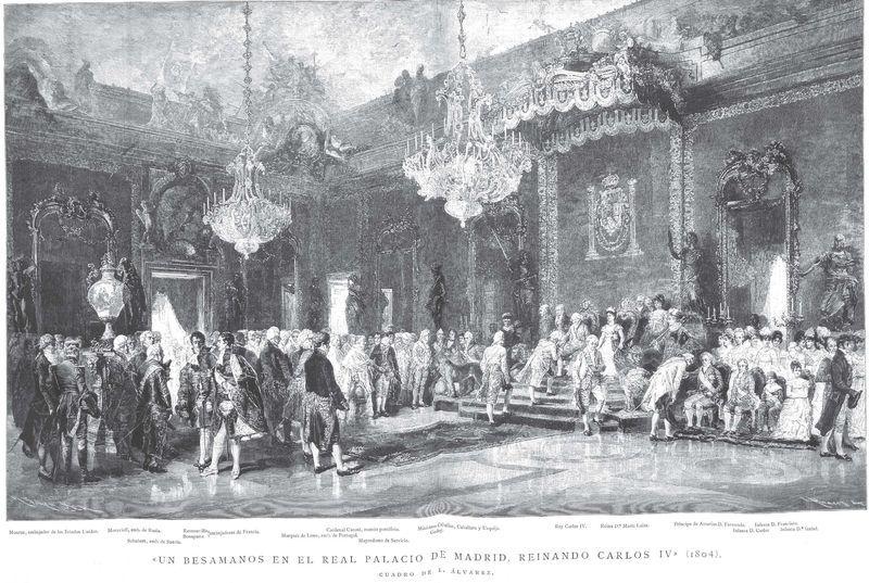 Datando un besamanos en tiempos de Carlos IV