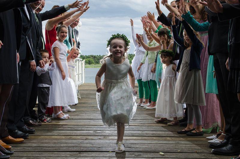 niños en ceremonias
