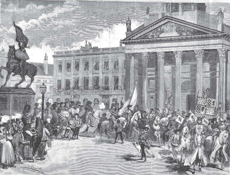 Protocolo y Heráldica en una cabalgata en Bruselas