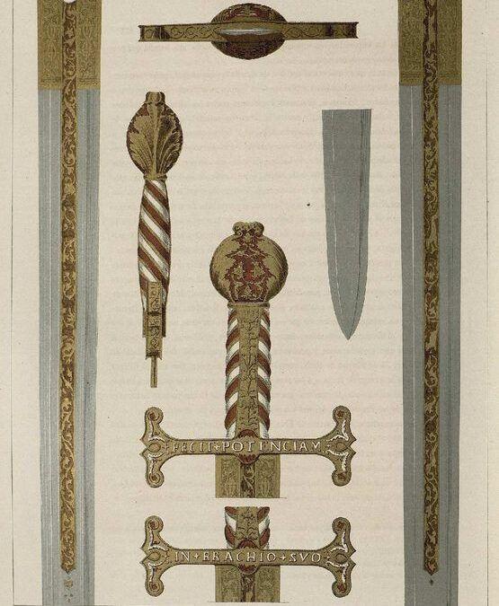 Cortejo para acompañar a una espada que había que regalar a un emperador